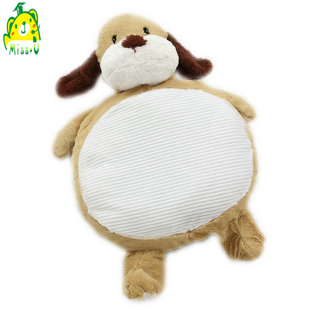 Factory custom CE super soft <strong>plush</strong> and soft stuffed Dog baby play game floor mat
