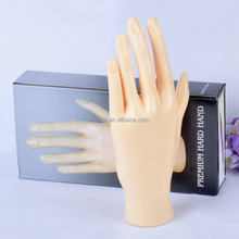 Nails silicone artificial hand, practice hand, nail hand trainer for nail art