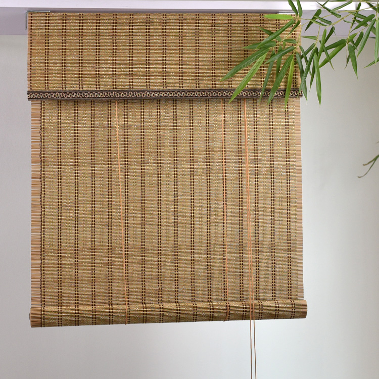 Distressed bamboo window blind roller blind