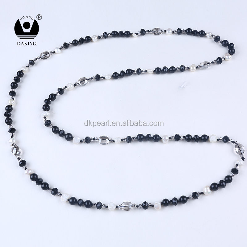 Natural crystal beads glass beads charm women necklace