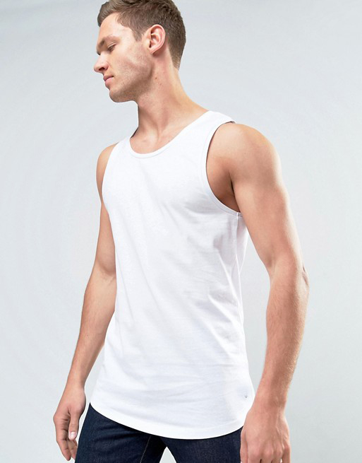 KY wholesale men custom embroidered logo fitness cotton gym tank top sleeveless sports vest in bulk white stringer