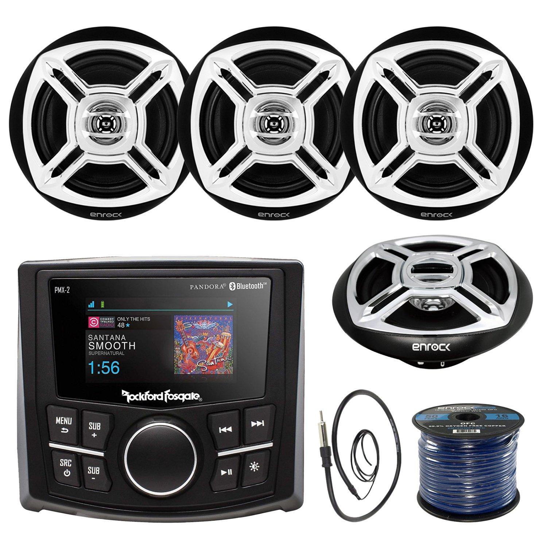 Buy Rockford Fosgate PMX-2 Ultra Compact Bluetooth Marine Boat MP3 ...