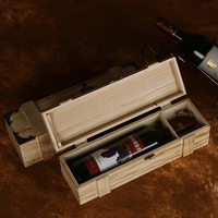 Single Bottle Custom Logo Paulownia Wooden Red Wine Boxes