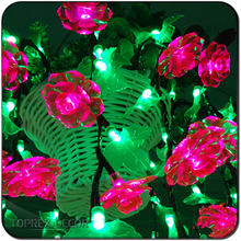Promocional flor Rosa artificial rojo luces led