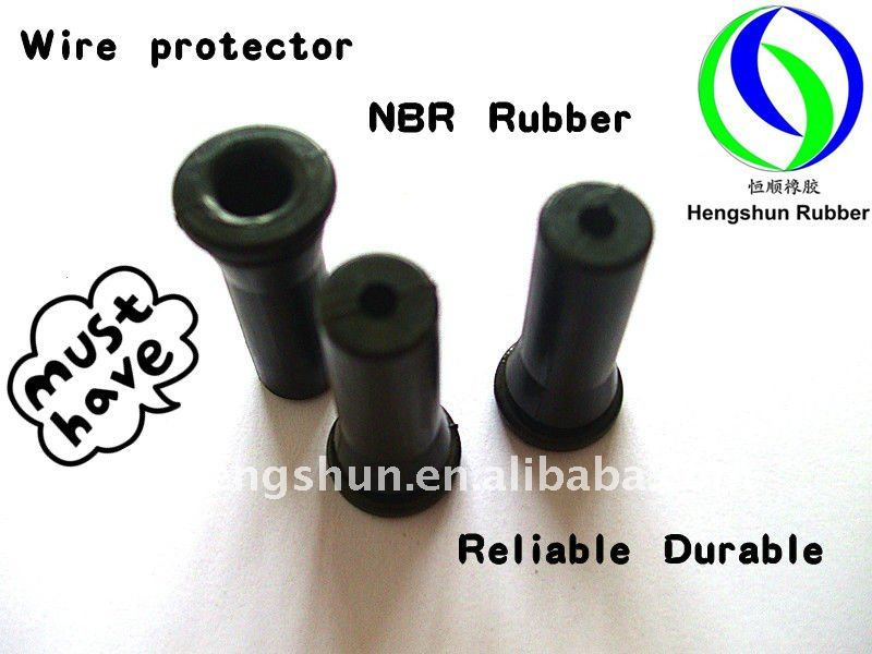 Black NBR Wire Protection Rubber Sleeve