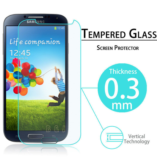 Premium S4 Tempered Glass Film LCD Guard Explosion Proof Screen Protector for Samsung Galaxy S4 i9500 i9505 Protective Film