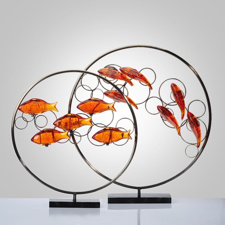 The fish home decorations modern minimalist furnishings fashion creative crafts ornaments soft furnishings TV cabinet