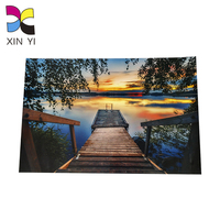 Cheap color printing glossy paper laminated custom print business thank you card