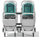 New model twin tandem baby stroller luxury twin 3 in 1