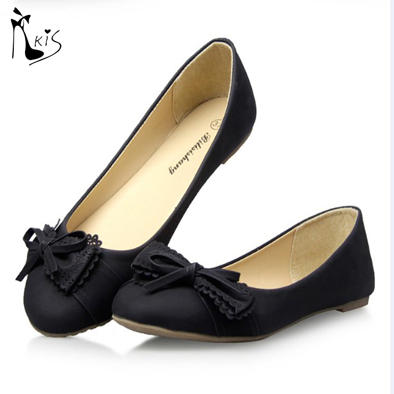 women flats 2015 New Spring Autumn Women Shoes Bowtie Tassel flat shoes Shallow Round Toe Cow Muscle Slip On Ballet flats F1005