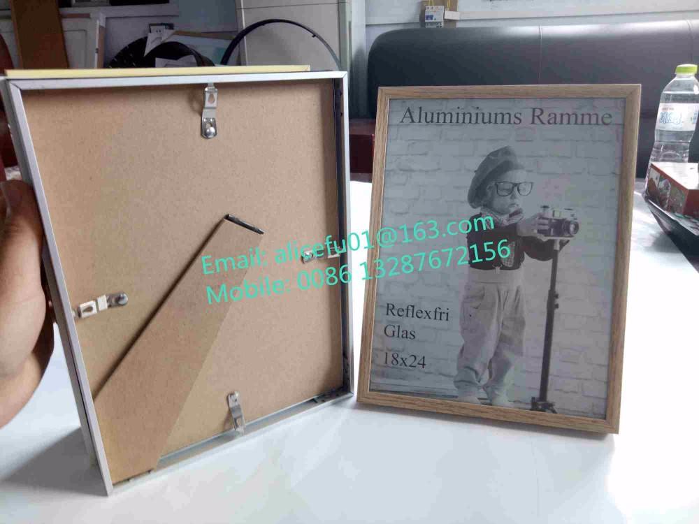 Al por mayor tamaño personalizado oro aluminio marco 4x6 5x7 6x8 ...