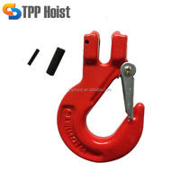 G80 high strength steel self locking clevis slip hook with latch