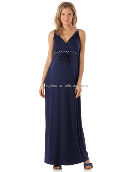 7f12a08573009 navy braided strap maternity maxi dress,maternity long dresses sleeveless  wrap pleated front wholesale maternity