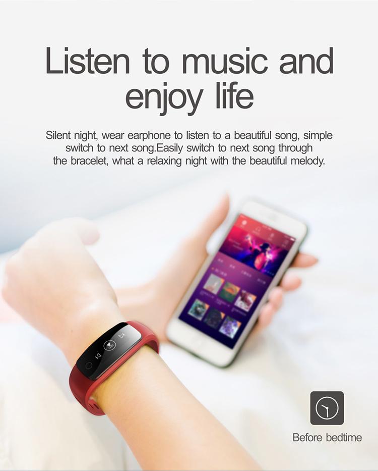 0.96' OLED Multi-touch Screen Smart Bracelet GPS Activity Tracker ID107 Plus HR