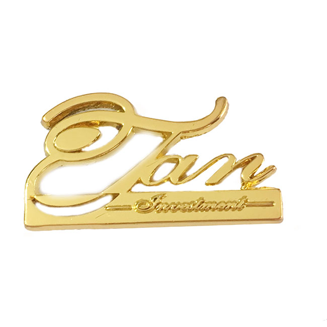 Custom 3D letter curved zinc alloy bag metal purse logo make parts hardware accessories