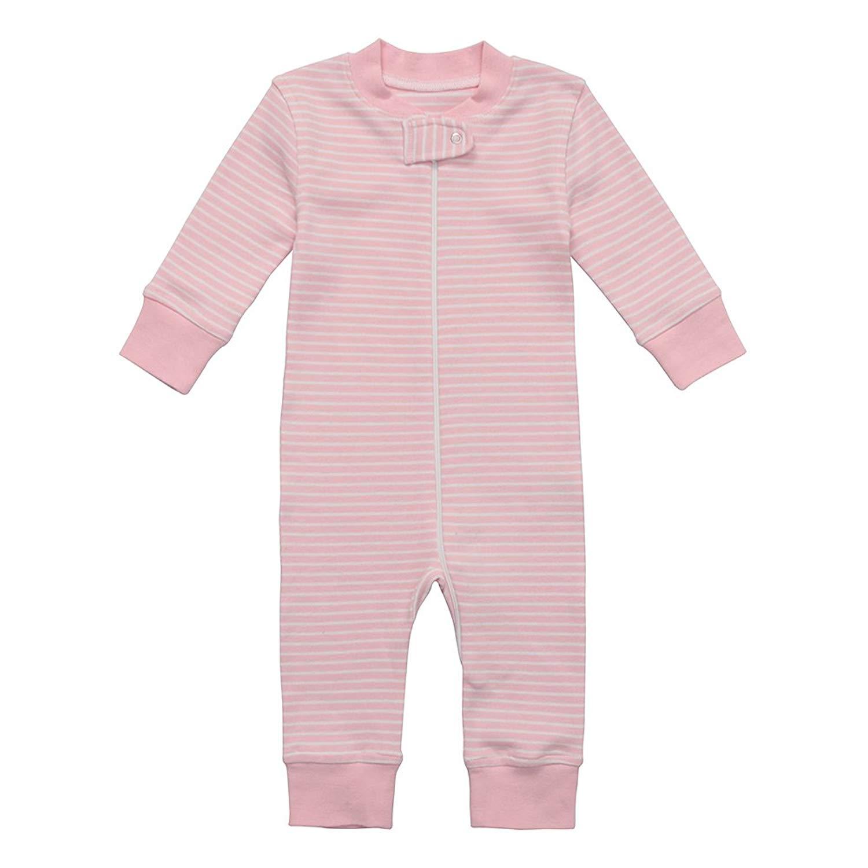 1fd50e469 Get Quotations · Owlivia Organic Cotton Baby Boy Girl Zip up Sleep N Play,  Footless, Long Sleeve