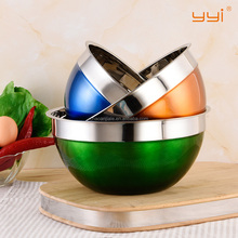 Stainless Steel food container / Stainless steel mixing bowl with colorful lid