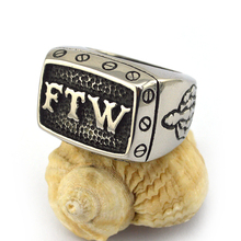 FOR THE WIN Fashion Stainless Steel FTW Biker Ring r003571
