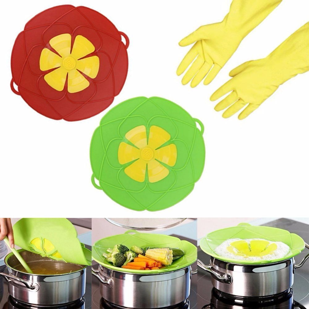 Durable Food-grade Bowl Lid Silicone Pot Cover Lid Silicone Spill Stopper Lid Cover
