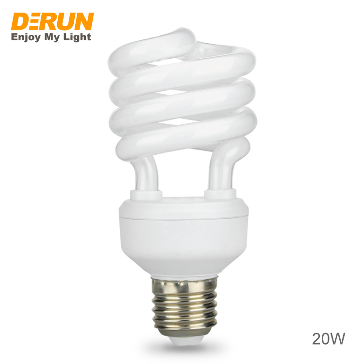 Penjualan Laris Grosir Lampu Hemat Energi Fluoresens Kompak Spiral Setengah atau Penuh Pabrik Bohlam Lampu Penyimpan E27 B22 Cfl, CFL-SPIRAL