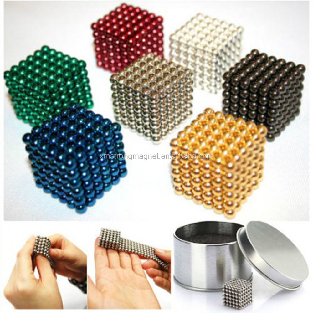 Colorful Strong Neodymium Magnets Cube ball Magnet for sale