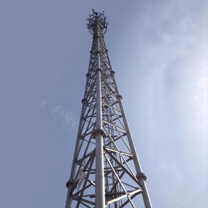 multifunction cell phone microwave communication lattice steel tubular triangular telecom radio 3 legs tube tower