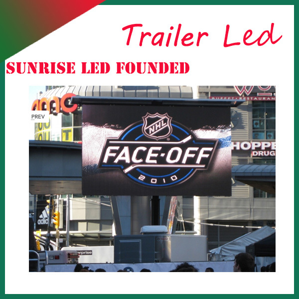 Sunrise full color waterproof mobile display screen,led display board on truck