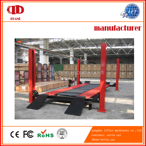 china cheap 4 post hydraulic home garage car parking lift