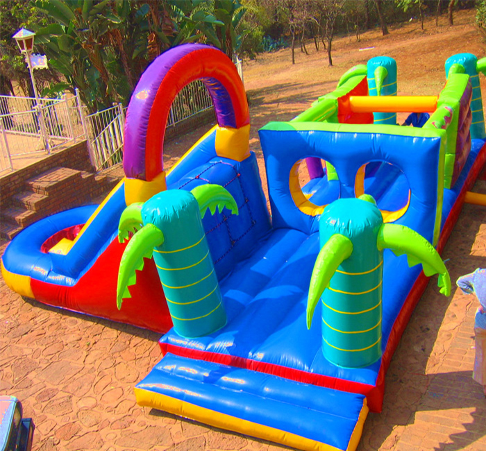 Jungle adventure inflatable castle fabric material for making bouncy inflatable castle