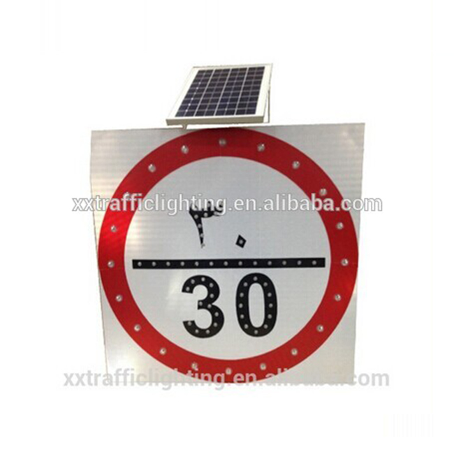 solar power pedestrian led warning signal light traffic radar display