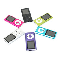 Hot Selling Slim MP3 MP4 Music Player 1.8 inch LCD 32GB Memory Screen FM Radio Video Player with 9 Color Availabe