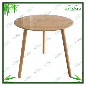 Wooden Dining Table Multifunctional Modern And Decorative Bamboo Table With  Pinewood Legs Modern Dining Table