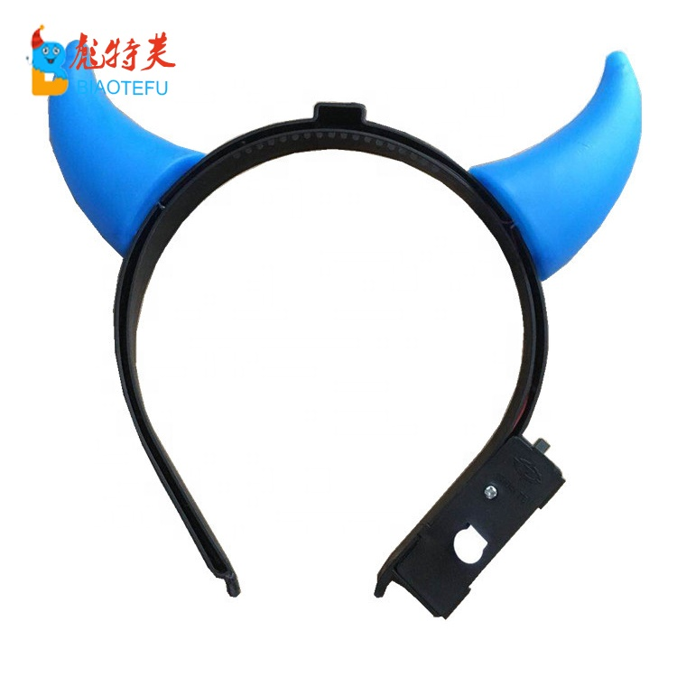 halloween party ox horn LED flashing headband