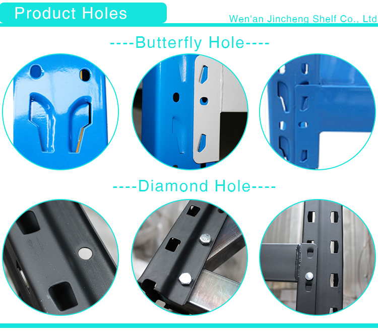 Diamond Hole or Butterfly Hole Light Duty Storage Metal Shelf for Stores or Warehouse