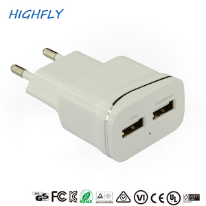Mobile Phone Dual Port USB 5V 2.4A Wall Charger