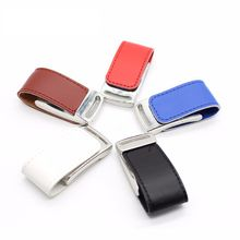 High Quality 32gb Pu Leather Usb Stick 8gb Flash Key 16gb Memory Pen Drive 64gb Usb2.0 U Chain Disk