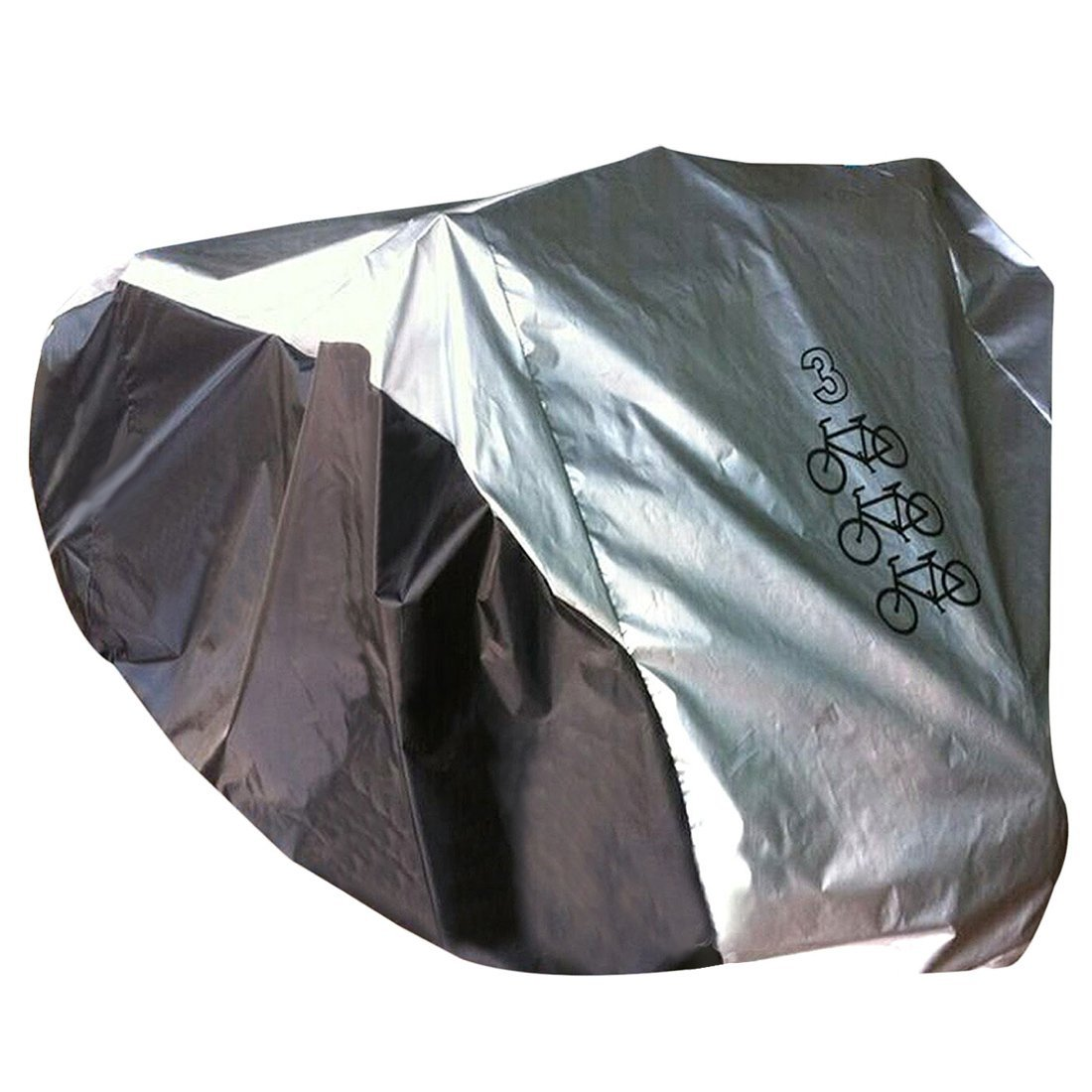 Bicycle Rainproof Dust Cover - SODIAL(R) Waterproof Triple 3 Bike Nylon Bicycle Cycle Scooter Dust Resistant Rain Cover