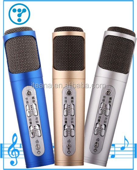 mini magic karaoke microphone for android ktv player in cellphone/mobile phone