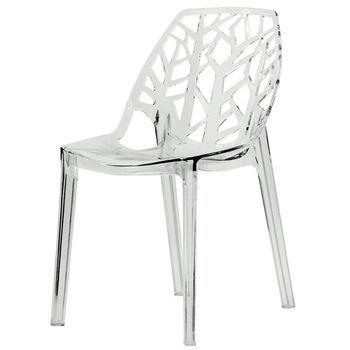 leaf shape back clear plastic chair for wedding - buy clear