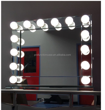 Australia popular hollywood makeup mirror with led lights for Lumiere led miroir