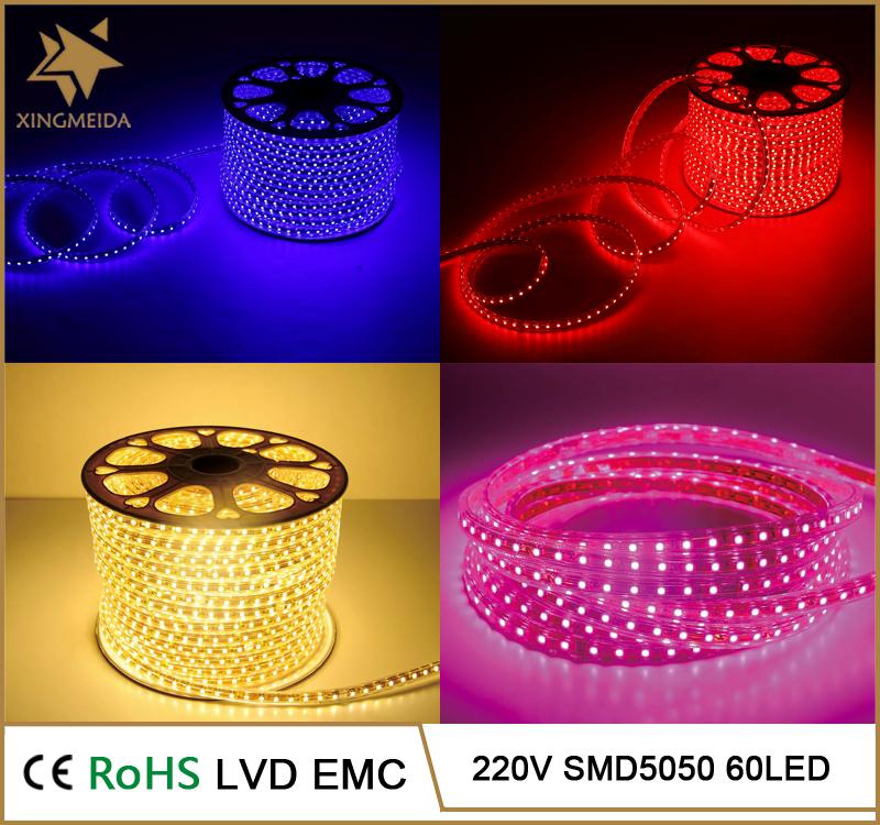 Decoratieve verlichting 220 V SMD 5050 hittebestendige rohs led ...