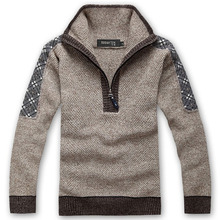 2014 male brand jumper men pullover sweater men's autumn & winter clothing 50% wool thickening casual knitted sweater,5 color