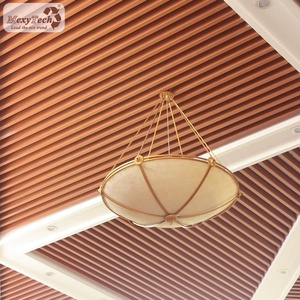 composite plastic wood acoustic hotel decoration ceiling panel board