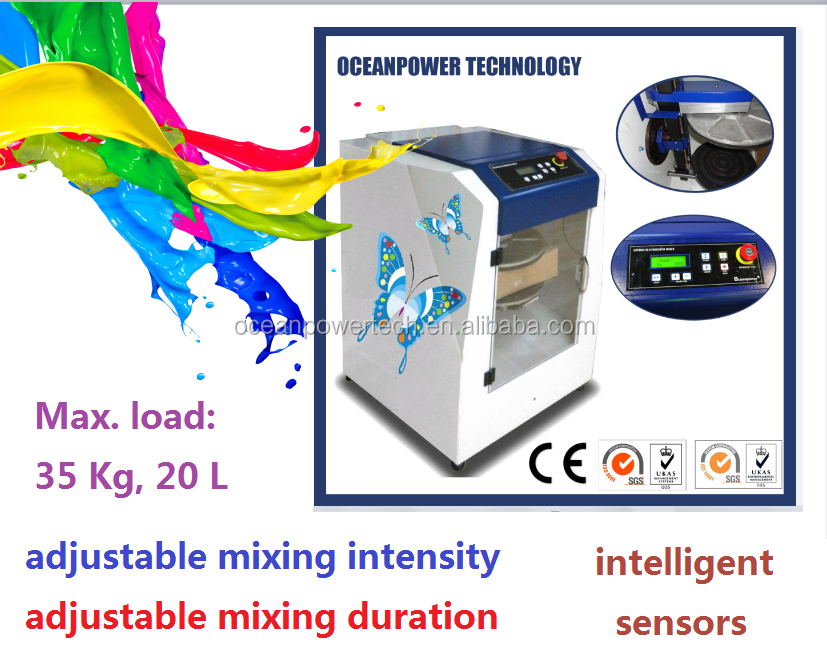 Paint color mixing machine / automatic gyroscopic paint mixer / auto gyro coating colorant agitator with simultaneous motions