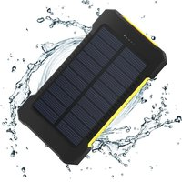 Rainproof Solar Power Bank Real 20000 mAh Dual USB External Polymer Battery Charger Outdoor Light Lamp Powerbank