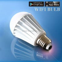 Newest auto link iphone RGBW Bluetooth 4.0 led bulb light/e27 timer shenzhen led e11 base bulb no wifi box