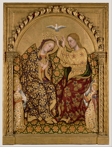 Canvas Art Prints Fabric Wall <font><b>Decor</b></font> Giclee Oil Painting Gentile Da Fabriano (<font><b>italian</b></font> - Coronation Of The Virgin
