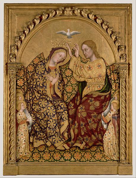 Canvas Art Prints Fabric Wall <font><b>Decor</b></font> Giclee Oil Painting Gentile Da Fabriano (<font><b>italian</b></font> - Coronation Of The Virgin