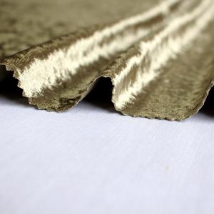Custom upholstery Shining gold washable crushed velvet fabric for sofa