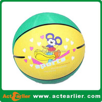 cheap size 1 rubber basketball kids with custom design